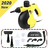 MLMLANT Vaporeta limpiador al vapor compacto de mano, 11 accesorios, 1050W, 350ML Adecuado para el hogar y la Oficina (A)
