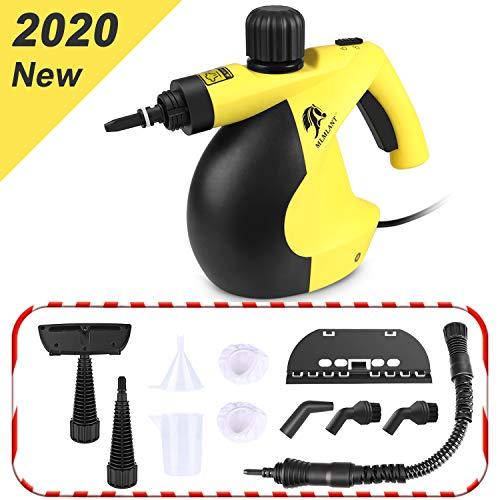 MLMLANT handgerät Dampfreiniger, 350ml tragbare Mehrzweck mit 11 Zubehörteilen zum Entfernen von Flecken auf Teppichen, Autositzen, Küchenvorhängen, Kammern, Böden, Bädern und mehr