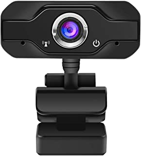 1080P Computer Webcam Built-in Microphone, Up and Down 180° Rotate, CMOS Image Sensor, HD 2 Million Pixels Live Video Conference Web Teaching Camera for Win 2000 / XP / 7/8 / 10(Black)