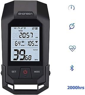 SHANREN Wireless Bike Odometer - Unique Bicycle Speedometer with LCD Backlight/Calorie Counter/Bike Cadence - Integrated 400LM German Bike Light Standard Headlight -Raptor II [DE]
