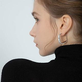 YERTTER Dainty French Style Earrings Geometry Ear Studs Ear Jewelry for Party Prom Dating Women Girl (Silver)