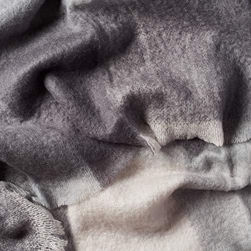 Luxuriöse MOHAIRDECKE, 220cm x 240cm. 89% natürliche Fasern. Atmungsaktiv, Leichtwichtig, Langlebig, Farbe MOOI