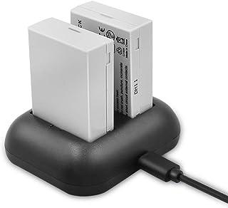 ENEGON Batería de repuesto y cargador dual rápido para Canon LP-E8 y Canon EOS Rebel T2i T3i T4i T5i EOS 550D 600D 650D 700D Kiss X4 X5 X6 LC-E8E cámara digital (Paquete de 2)