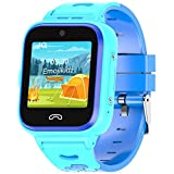 4G Kids Smartwatch 2020 Model + SIM Card Included GPS Locator 2-Way Face to Face Call Voice & Video Camera SOS Alarm Remote Monitoring Worldwide Coverage in Select Countries [Age 4 Years +] Blue