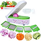 LHS Vegetable Chopper, Pro Onion Chopper Slicer Dicer Cutter - Cheese & Veggie Chopper - Food Chopper Dicer with 5...