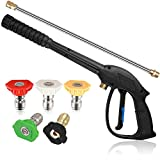 Product Image of the TOOLCY Replacement Pressure Washer Gun, Power Washer Gun with Extension Wand, 5 Nozzle Tips, M22 14mm Fitting, 44.5 Inch, 3700 PSI