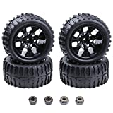 Hobbypark 4PCS 12mm Hub RC Wheels and Tires with Foam Inserts for...