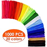 KASEMI Pipe Cleaners,1000 pcs and 20 Assorted Colors 12 inch Chenille Stems for DIY Art Creative Crafts...
