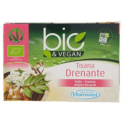 Vitarmonyl TISANA DRENANTE BIO&VEGAN ● Integratore 6 Confezioni da 20 bustine ● 100% vegan ● Registrato Ministero Salute Italiano