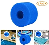 Houkiper Pool Filter Cartridge for Intex S1 Type, 2 Pack Filter Sponge Reusable Washable Filter Cleaner Tool Foam Cartridge Sponge