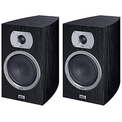 Heco Victa Prime 30285W schwarz Lautsprecher–Lautsprecher (Lautsprecher, XLR, Boden, Oberseite Tisch-/Bücherregal, Reflex, 2,5cm, 17cm)