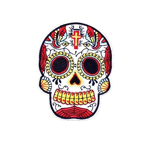 KUSTOM FACTORY Picture Gifts Patch Skull Mexicano Bordado 7 x 9 cm