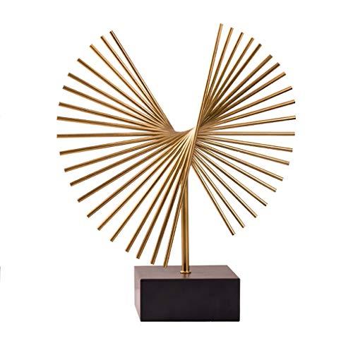 Beeldhouwwerk beeld Europese Stijl Woonkamer Decoratie Ornamenten Modern Huis Model Kamer Wijnkast Veranda TV Ambachten Metalen Meubels Figurines