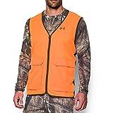 Under Armour Men's Blaze Antler Logo Hunting Vest, Blaze Orange (825)/Timber, Large