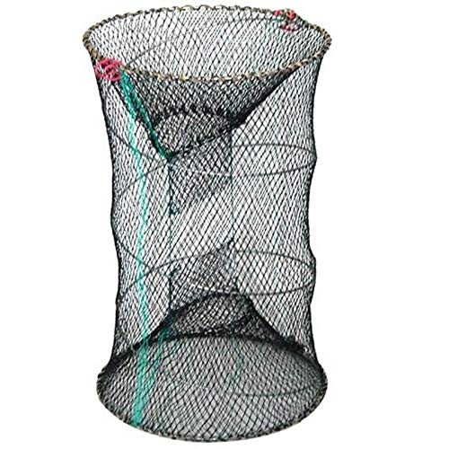 YMYGCC Fish trap 1PC Folding Fishing Net Baits Crab Fish Crawdad Shrimp Fishing Net Network Casting Trap Dip Fish Mesh Net Cage Cast Minnow 21 (Color : White)