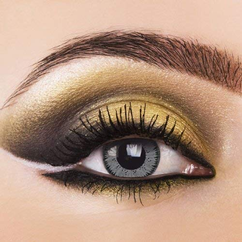 2x Grau Kontaktlinsen