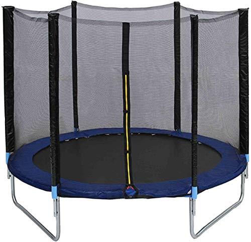 Cama elástica certificada exterior para jardín con red para niños (430 cm de diámetro con escalera)