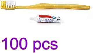 Kit de lavado de pasta de dientes desechable, cepillo de dientes de cerdas suaves, portátil, cepillo de dientes, pasta de dientes, traje, viaje, equipo de acampada