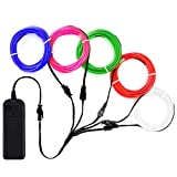 Best El Wires - Zitrades EL Wire Neon Lights Kit with Portable Review