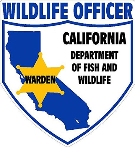 Sticker Warden California Department of Fish and Wildlife Law Enforcement Division Decal for Car Truck Window USA Stickers (4 inch, Vinyl Matte)