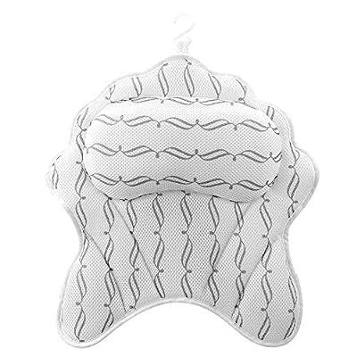 Amazon - Save 60%: SMZCTYI Luxurious Bath Pillow, Ergonomic Spa Bath Pillows for Tub Neck Hea…