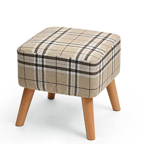 QIDI Tabouret Canapé Table Basse Tissu Dressing Tabouret en Bois Massif 40 * 40 * 40cm (Couleur : Style 4)