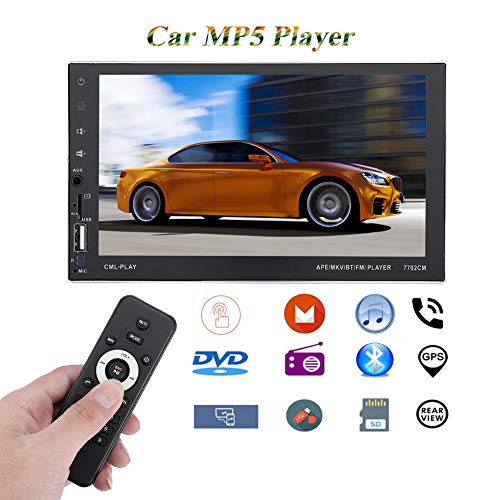 7.0″HD Car Stereo MP5 Player Navegación GPS Manos Libres con Control Remoto Pantalla Doble HD Touch TFF…
