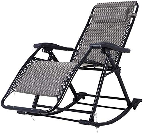 DGHJK Post Rocking chair - with Headrest Outdoor Portable Zero Gravity Chair for Camping Fishing Beach (Color : Style 2)