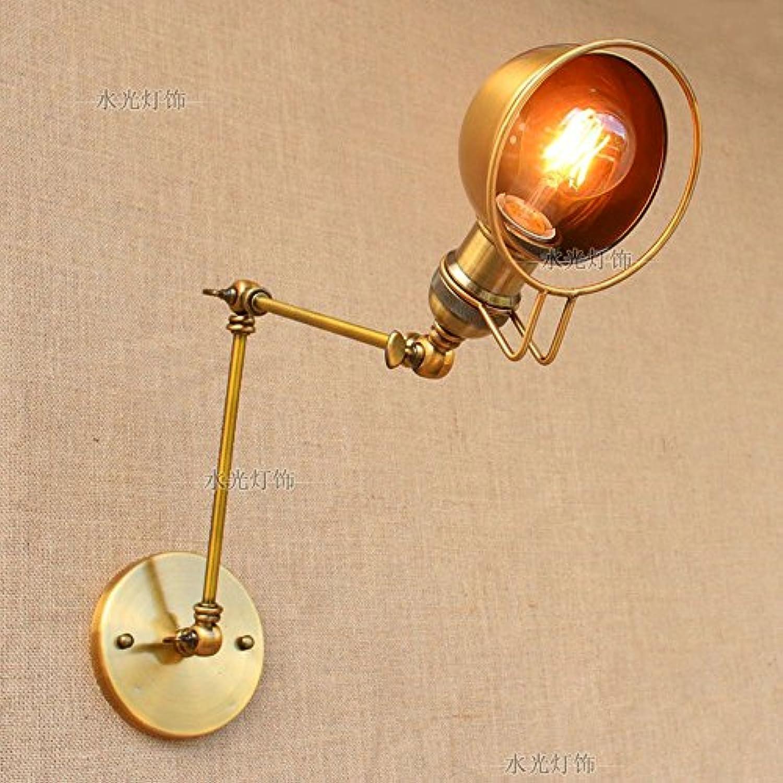 Pointhx Metal Gold Einstellbare Schwinge Arm Wandleuchte E27 1-Light Eisen Wandleuchte Nützlich Faltbare Wandleuchte Leuchte für Schlafzimmer Studie Büro Lesen