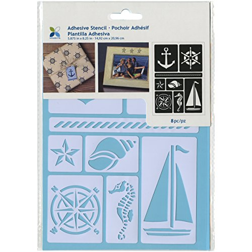 "Momenta Adhesive Stencil, 5.875"" by 8.25"", Nautical"