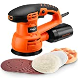VonHaus 3.5A 5-inch Random Orbit Sander / Orbital Polisher with 9 Sanding Pads & 3 Polishing Pads