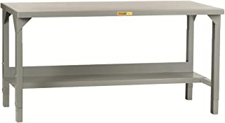 Little Giant WST2-2448-AH Welded Steel Workbench, 5000 lb. Load Capacity, 1 Half-Shelf, 27