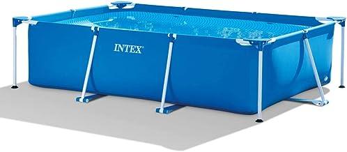 Intex Piscina Rectangular Frame 300x200x75 cm Hidromasaje Terraza Jardín Patio