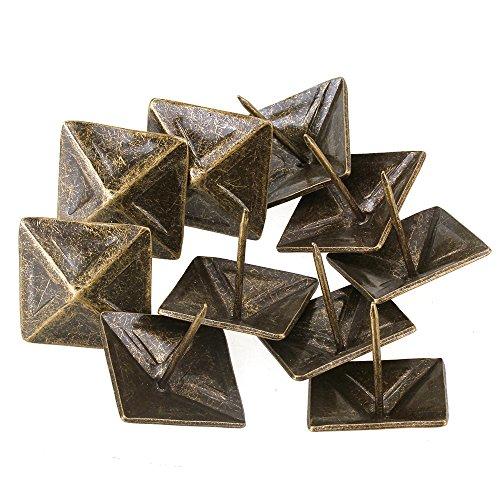 BQLZR 30 x 30mm Bronze Antik Viereck Kegel Nagel Pyramide Ziernägel Möbel Polsternägel 10 Stück