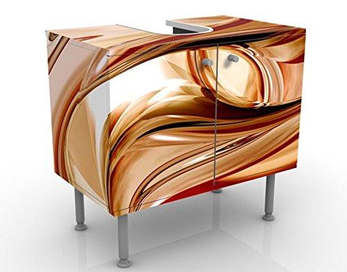 Apalis Waschbeckenunterschrank Mandalay 60x55x35cm 3D Digital Kunst Abstrakt Linien, Größe:55cm x 60cm