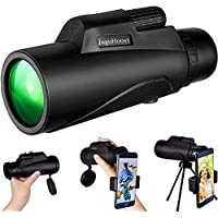 12x50 Monocular Telescope for Smartphone with Tripod Holder