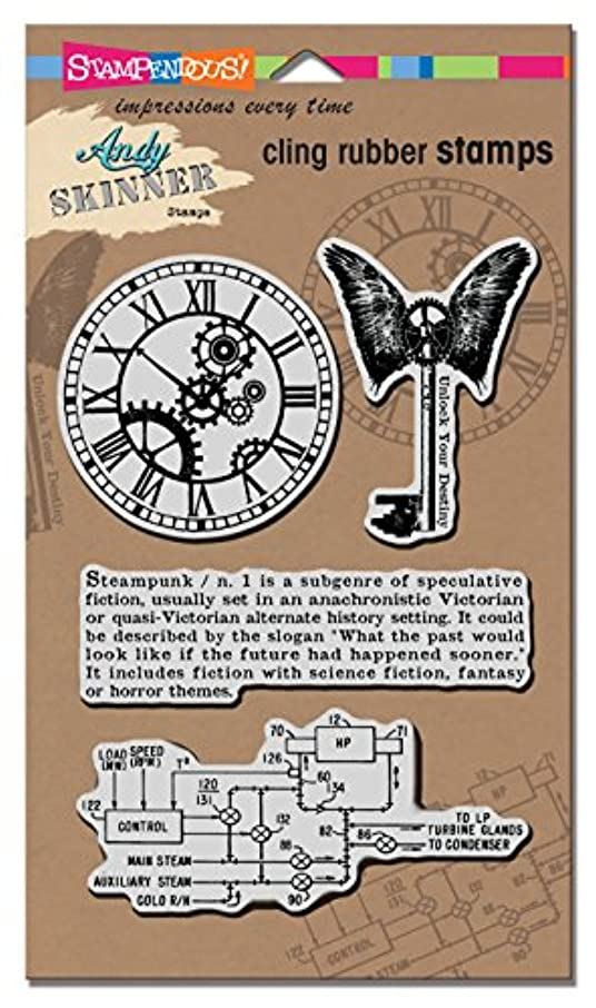 STAMPENDOUS ASCRS02 As Cling Steampunk Rubber Stamp Set