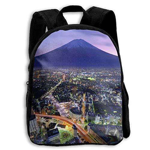 XaMiner Sac à Dos MT. and Yokohama Japan Financial City Toddler Backpack 13 'Kids School Backpacks for Boys and Girls