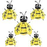 GUIFIER Abeja de hierro un Grupo de 5 Insectos Lindos Coloridos para Colgar Arte de...