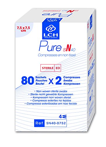 LCH – SN40-0752 – komprimerar Pure SN sterila fleece – mjuk att känna sig – deformeras inte – Fäster inte på huden – kompatibel med alla antiseptiska lösningar