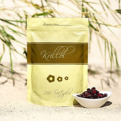 VivaNutria Krillöl-Kapseln 250 Stück I kleine Softgel-Kapseln | leicht zu schlucken I mit je 500 mg reinem Antarktis-Krillöl I beste Qualität - große 3-Monats-Packung I Krill-Öl Softgels