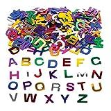 Baker Ross Buchstaben-Pailletten (Dose mit 80 g) – glänzende Metallic-Großbuchstaben für Bastelarbeiten