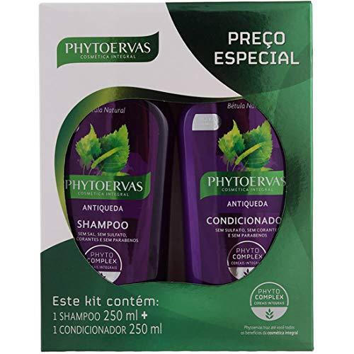 Kit Shampoo 250Ml e Condicionador 250Ml Phytoervas Antiqueda, PHYTOERVAS, Roxo