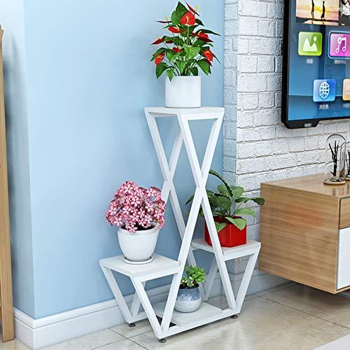 Stand de Fleurs Moderne Multicouche Salon sur Pied étagère européenne Stable et Durable présentoir de Plantes 40 * 20 * 78cm