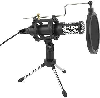 Ciglow Micrófono de grabación de Condensador USB, micrófono de Podcast USB para PC Profesional con Soporte de Escritorio y...