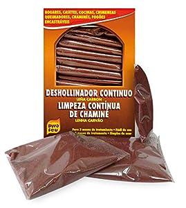 PYRO FEU 24628-12 Caja de 14 Unidades de Deshollinamiento Lítico para Limpieza y Mantenimiento Continua de Chimeneas, Marrón Teja, Talla Única