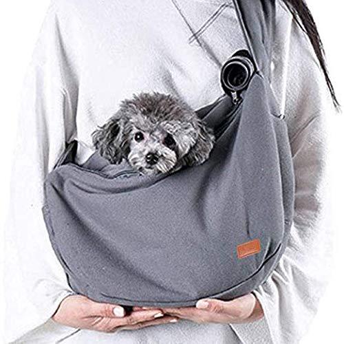 Keneke Haustier-Reiserucksack, tragbar, atmungsaktiv, Schultertasche, Netzstoff, für Katzen und Hunde, 50 x 28 x 13 cm