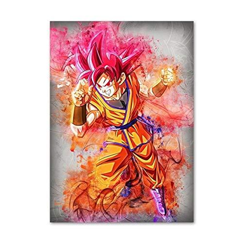 Puzzle 1000 Piezas Cuadro artístico Anime nórdico Super Son Goku Pintura Puzzle 1000 Piezas educa Juegos Familiares para Adultos Divertidos para niños50x75cm(20x30inch)