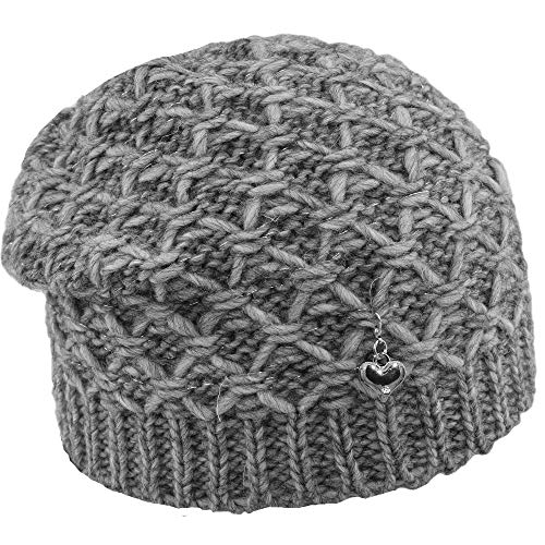 Melegari Floppy Frida Hat, muts met wol/alpaca, met sieraden, gemaakt in Italië, herfst/winter