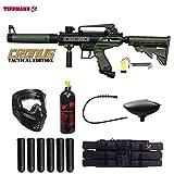 Maddog Tippmann Cronus Tactical Paintball Titanium Paintball Gun Package - Black/Olive